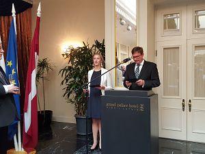Прием Посольства Словакии. Посол Республики Словакия в Латвии Петер Хатяр