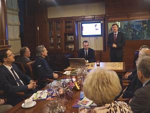 Посол Словакии вЛатвии Петер Хатяр на вечере вДипломатическом клубе