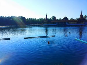 Озеро Хевиз утром