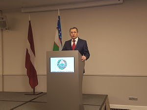 The reception of the embassy of Uzbekistan in Latvia