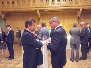 Посол Франции Стефан Висконти иПосол Венгрии Габор Добокай