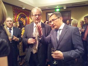 Ambassador of Italy Giovanni Polizzi, Ambassador of Netherlands Hendrik G. C. van den Dool and Ambassador of Uzbekistan Afzal Artikov