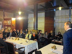 Посол России в Латвии Александр Вешняков  на встрече в Дипломатическом Клубе