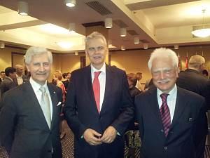 Посол Швейцарии в Латвии, заместитель Посла Нидерландов Корнелис Гроэневелд, советник Посольства Швейцарии Беат Бюрги
