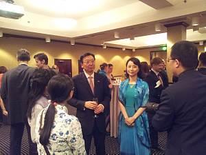 Посол Китайской Народной Республики Yang Guoqiang с супругой Wang Yi