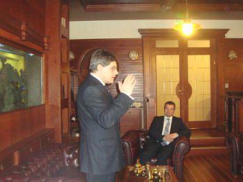 Ежи Марек Новаковски в гостях в Дипломатическом экономическом Клубе