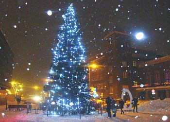 Christmas tree at Town Square in Riga