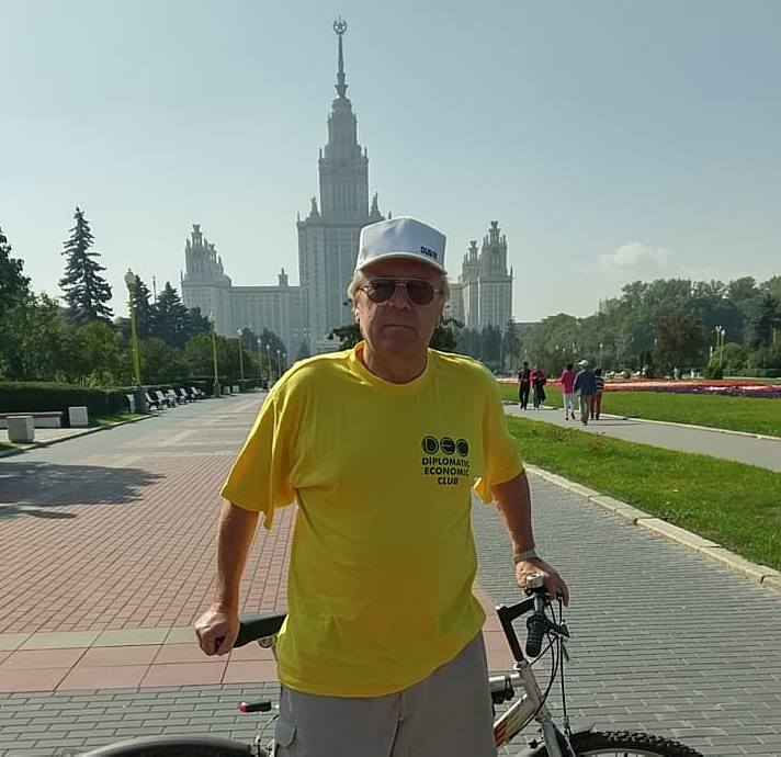Moscow, Moscow State University, the cycle route of Sergey Kanayev