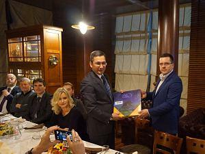 Встреча вдипломатическом экономическом клубе   с Послом Узбекистана вЛатвии Афзалом Артыковым