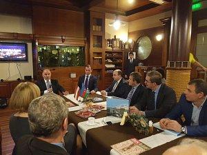 Встреча вДипломатическом клубе сПослом Азербайджана 5октября 2017 вРиге