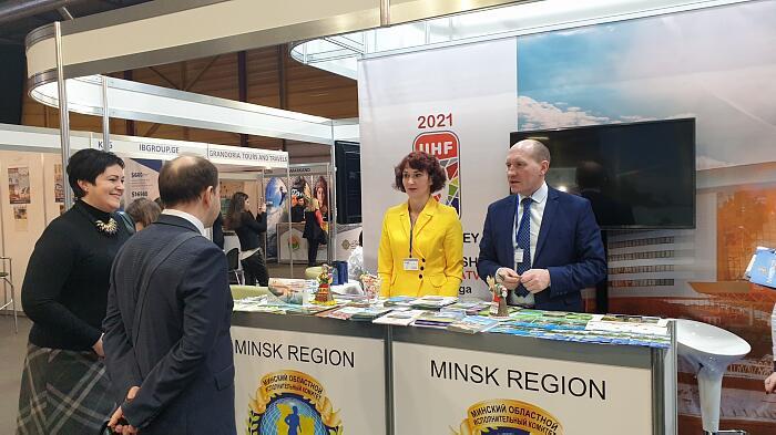 Выставка Balttour 2020 вРиге. Стенд комитета по туризму Беларуси