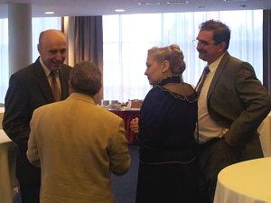 Посол Украины Анатолий Олыйник, президент Dzintars Илья Герчиков, директор санатория Янтарный берег Виктор Данилох