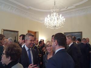 Прием Посольства Чехии вЛатвии, октябрь 2015. Заместитель Посла Нидерландов Мартейн Ламбарт