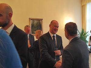 Прием Посольства Чехии вЛатвии, октябрь 2015. Посол Чехии  Мирослав Косек
