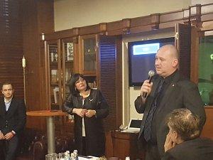 Встреча вДипломатическом экономическом клубе сПослом Чехии  Мирославом Косек