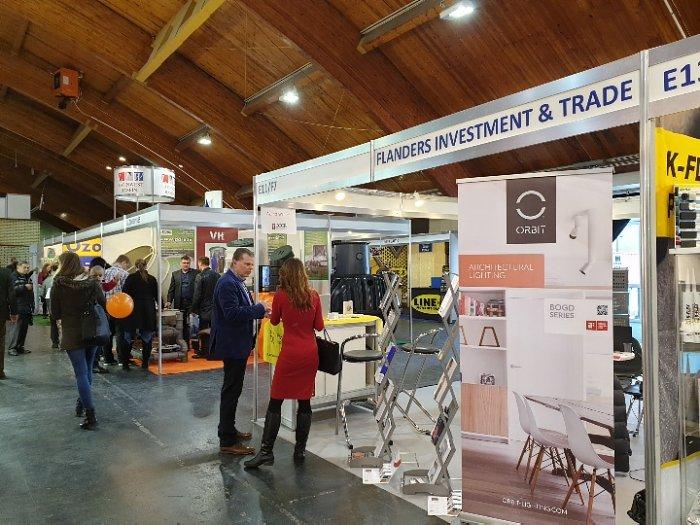Строительная выставка ДОМ I2019. Стенд агентства инвестиций иторговли Фландрии, Бельгия