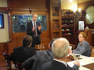 Встреча вдипломатическом экономическом клубе   с Послом Финляндии вЛатвии Олли Кантоненом