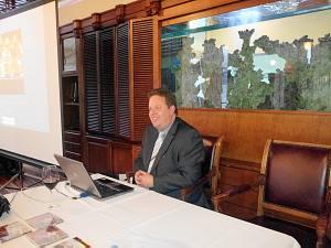 11 апреля 2013 г. Встреча вДипломатическом Клубе вРиге. Торговый советник Посольства Королевства Бельгии (регион Фландрия) вФинляндии