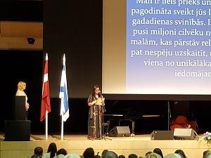 Прием Посольства Израиля вЛатвии. Посол госпожа Лиронне Бар-Садех