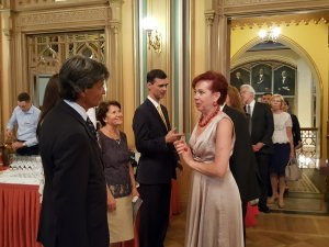 Прием Посольства Италии вЛатвии. Посол Себастьяно Фулчи