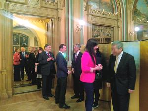 Прием Посольства Японии вЛатвии. Посол Японии Тошиюки Тага