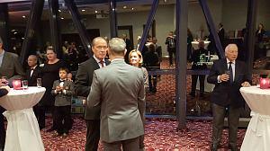 Прием Посла Японии вЛатвии Тошиюки Тага, октябрь 2015. Посол России А. Вешняков иПосол Франции С. Висконти