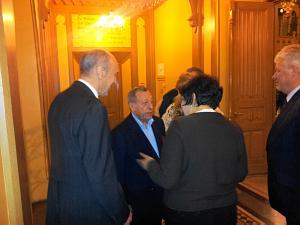 Посол Украины Анатолий Олийнык, Илья Герчиков президент Dzintars, Посол Беларуси Марина Долгополова