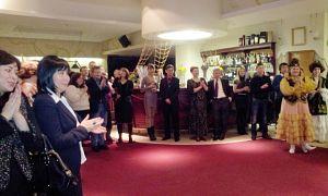 Открытие вечера дружбы. Советник Посольства Казахстана Жазира Мырзакассимова