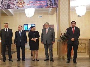 Совместный прием посольств  вРиге 9мая
