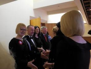 Прием Посольства Польши вЛатвии. Посол Республики Польши Эва Дембска