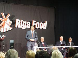 Юбилейная выставка Riga Food 2015. Президент Латвии Р. Вейонис
