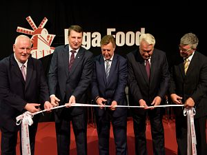 Выставка Riga Food 2016. Президент Латвии иПремьер министр Латвии открывают выставку