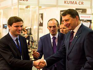 Выставка Riga Food 2016. Президент Латвии Р.Вейонис, А. Сохадзе заместитель  Посла Грузии