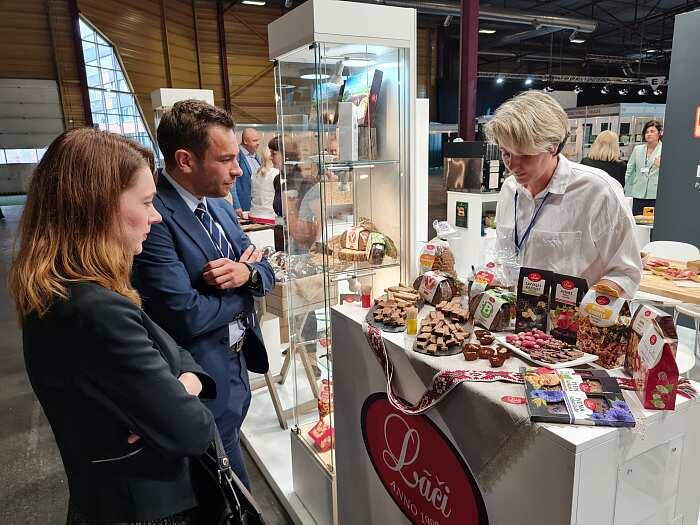 Знакомство спродукцией на выставке Riga Food 2021