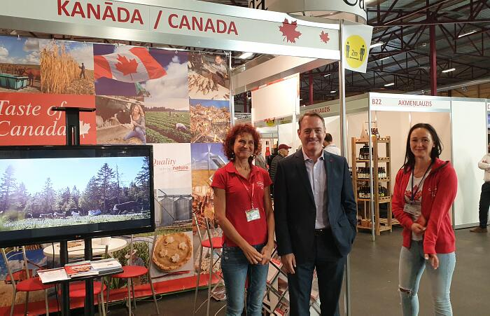 Riga Food 2020 стенд Посольства Канады