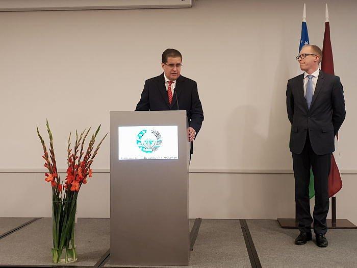 Прием Посольства Узбекистана вРиге