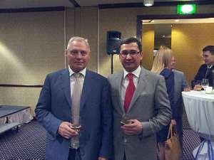 Президент ITERA Latvia Юрис Савицкис иПосол Узбекистана Афзал Артыков