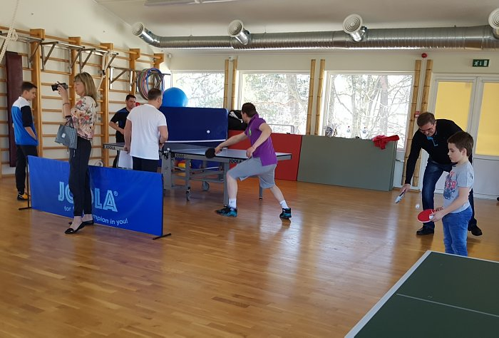 Турнир Дипломатического клуба по настольному теннису. Дмитрий Глебов иКаспар Бутенко